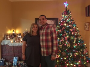 Chris and I on Christmas Eve