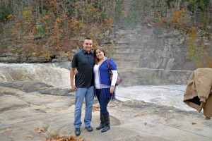 Chris and I at Cumberland Falls